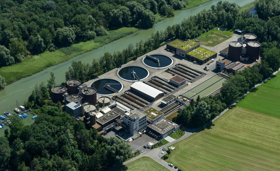 Ecotoxicity of coating materials for WWTP